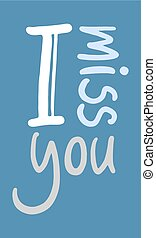 I miss you icon - design of I miss you icon