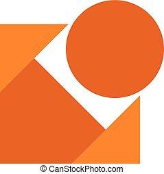 imaginative cube icon - design of imaginative cube icon