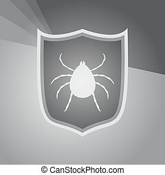 virus protect symbol - design of virus protect symbol