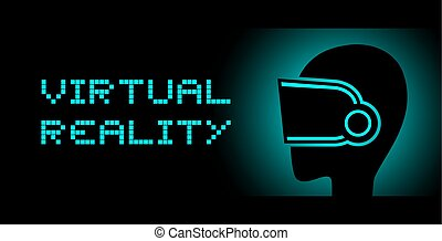 VR experience symbol - design of VR experience symbol