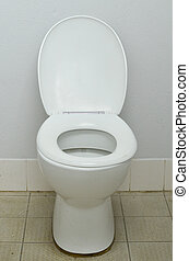 Dirty filthy public toilet bowl - Filthy contaminated public...