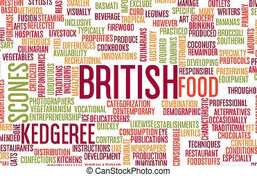 British Food Menu - British Food and Cuisine Menu Background...