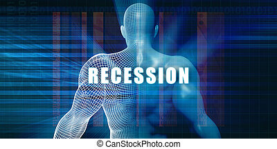 Recession as a Futuristic Concept Abstract Background