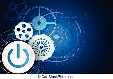 Vector abstract backgroung technology switch. - Vector...