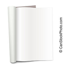 Blank Magazine - XXXL - Blank magazine with folded pages, on...