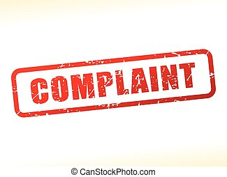 complaint text buffered - Illustration of complaint text...
