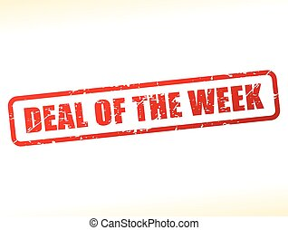 deal of the week text buffered