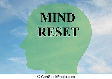 Mind Reset concept - Render illustration of 'MIND RESET'...