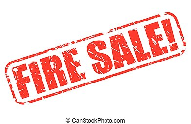 FIRE SALE red stamp text on white