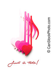 Just a note. - Creative valentines concept photo of notes...
