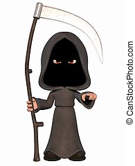 Cartoon Grim Reaper  - 3D Render of an Cartoon Grim Reaper
