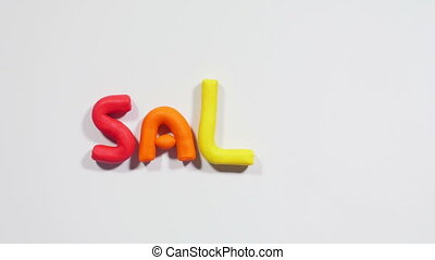 Plasticine big sale - Colorful letters made of plasticine...