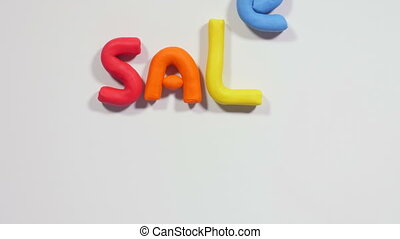 Sale up to ninety percent - Word sale made of colorful...