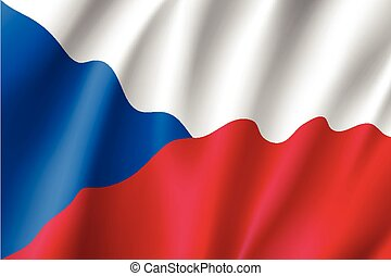Waving flag of Czech Republic