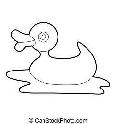 Duck toy icon, isometric 3d style - Duck toy icon. Isometric...