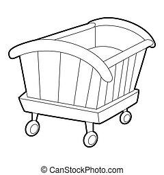 Cradle icon, isometric 3d style - Cradle icon. Isometric 3d...