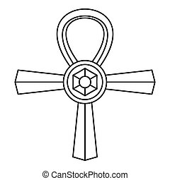 Ankh symbol icon, simple style - Ankh symbol icon. Outline...