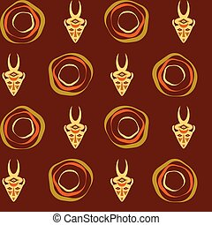Abstract ethno pattern, tribal background. Vector eps10