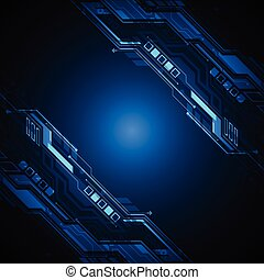 Vector abstract backgroung technology. - Vector abstract...
