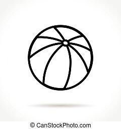 beach ball thin line icon