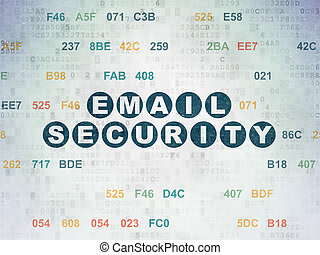 Privacy concept: Email Security on Digital Data Paper...