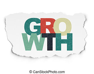 Finance concept: Growth on Torn Paper background