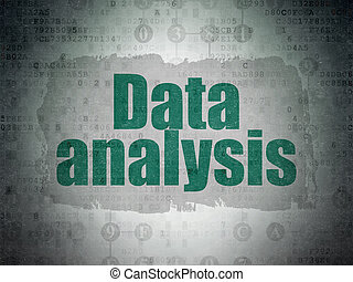 Data concept: Data Analysis on Digital Data Paper background...