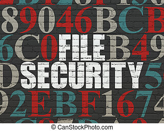 Privacy concept: File Security on wall background - Privacy...