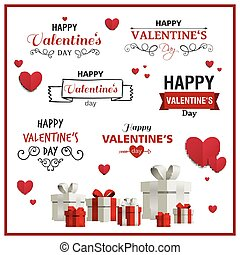 Vector Valentines Day Design Elements