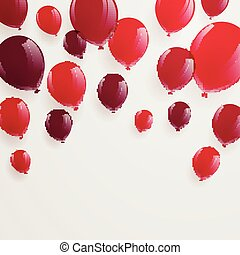 Vector Red Balloons
