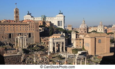 view of Rome from the Palatine - Capitol Hill and Vittoriano...