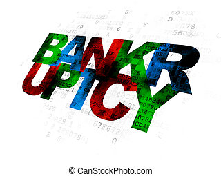 Law concept: Bankruptcy on Digital background - Law concept:...
