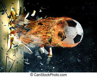 Soccer fireball power - Professional soccer fireball leaves...