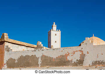 Sidi Ifni on the coast of Morocco - The town of Sidi Ifni on...