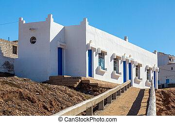 Sidi Ifni on the coast of Morocco - The town of Sidi Ifni on...