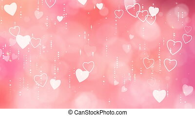 Valentine's Hearts Background.