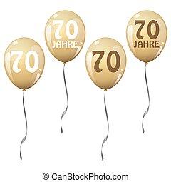 golden jubilee balloons - four golden jubilee balloons for...