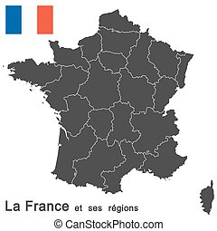 France and federal states - european country france and all...