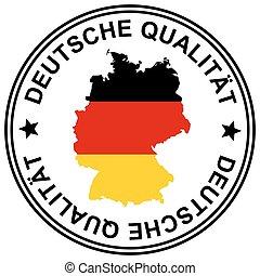 """Patch """" Deutsche Qualität """" - round patch """" Deutsche..."""