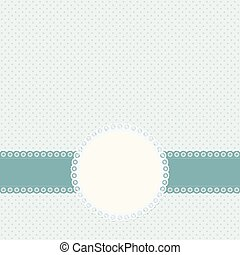 banner and patch on colored background - banner and empty...