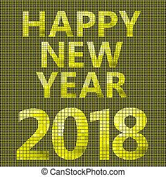新しい, 幸せ,  2018, カード, 年