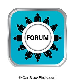 Forum button with group of people