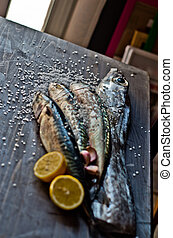 blue fish freshly caught great for a healthy diet ready to...