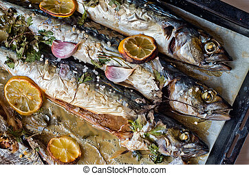 oily fish rich in antioxidants freshly cooked - excellent...