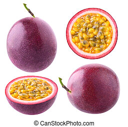 Isolated passion fruit collection - Isolated passionfruit....