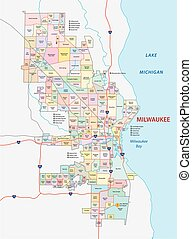 milwaukee neighborhood map - milwaukee road and neighborhood...