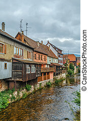 Weiss river in Kaysersberg, France - View of Weiss river...