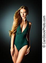 collections bikini - Beautiful sensual woman with...