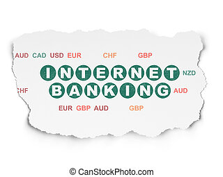 Banking concept: Internet Banking on Torn Paper background -...