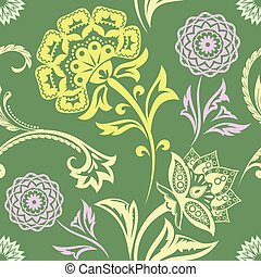 Ethnic Floral Seamless Pattern11 - Ethnic Floral Seamless...